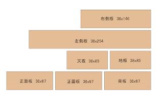 レコロ架台用の木取り図